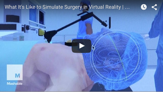 Mashable Features our VR Surgical Simulation Work - Play